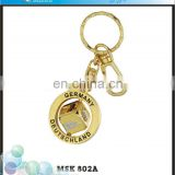 Promotion Germany Souvenir Gold Dice Engraved Spinner Key Chain Custom Logo