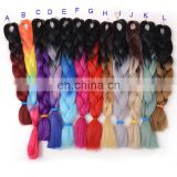Cheap synthetic ombre color jumbo braiding hair