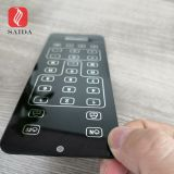 custom 2mm tempered glass with black silk screen decorative printed for smart home automation door bell