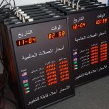 Currency Exchange Rate Board Display With Date and Time led bank currency exchange sign panel for indoor