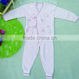 eco-friendly 100% cotton thin newborn baby boy girl jacquard knitting pattern clothing set