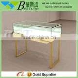 high end jewellery shop gold plated counter furniture with LED light