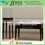 retial counter top wood glass jewelry display table with factory price