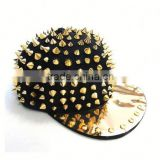Uoften Punk Rock Studded Baseball Hip-hop Hat Spike Rivet Spiky Stud Cap Dance