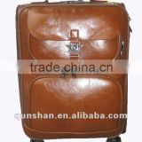 genuine leather trolley case&2012 new spinner trolley luggage&new trolley suitcase