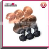 Three Tone 100% Unprocessed Virgin Brazilian Human Hair Wefts Body Wave Hair Extensions