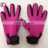OEM outdoor activities waterproof gloves neoprene fleece lining fishing gloves