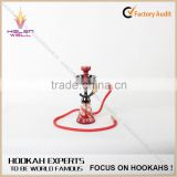 colored smoking zinc shisha hookah/glass water pipe