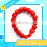 Charming red heart shape link bracelet jewelry