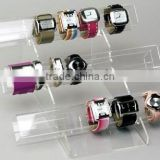 Transparent 3 tier Acrylic Watch Bracelet Display Tube Bangle tube