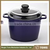 Non Stick Kitchen Supplies 24cm Steel Hot Pot Casserole With Enamel Coating