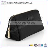 Black cosmetic pouch wholesale canvas cosmetic bag with zipper