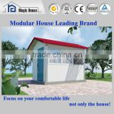 Fireproof prefabricated shop/Glass wool Sandwich panel prefab building / temporary shop in elegant design and CE approved