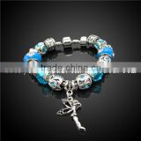 zinc alloy energy glass bracelet