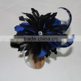 Feather flower hair accessories available in any designs and colors