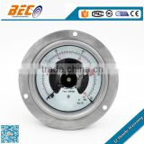 (YBX-100BD) 100mm center back panel mount connection all ss high pressure electric contact gauge manometer