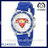 Superman Kids' Rubber strap analog quartz watch/easy reading Superman Logo Plastic Watch with Rubber Band