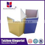 Alucoworld aluminum copper clad laminate light weight concret high gloss aluminum composite ceiling aluminium composite
