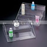 custom acrylic shampoo advertising display stand step of 3