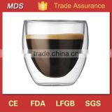 Classic glassware double wall espresso glass shot cup                                                                         Quality Choice