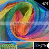 Polyester Rainbow Printed Tulle Fabric for Dress                                                                         Quality Choice