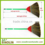 SINOLIN high quality straw tiger grass broom with wooden handle
