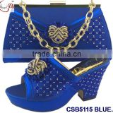 CSB5115 Top fashion wholesale good quality italian matching shoes and bags set
