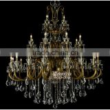 Biggest Decorative Antique Classic Metal Crystal Chandelier Hanging Lighting Fitting MD8763-16+8+4