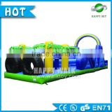 HappySky 15*6m giant inflatable paint ball obstacle for adult&kids, inflatable obstacle course for sale