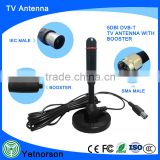 Hot selling 470-862mhz uhf digital active color tv indoor antenna for decoder dvb-t2 receiver