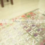 2015 new style letter vinyl glitter sticker sheet