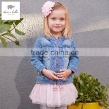 DB2999 dave bella spring cotton baby tops baby shirts baby denim coat outwear girls clothing
