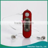 USB2.0 LCD 16GB MP3 Player with Voice Recorder Function Red