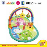 High quality two types plastic and plush baby Gym play mat activity toy
