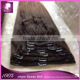 Best selling human hair clip in hair extensions for Brazilian afro straight clip in hair extensions for fashion women