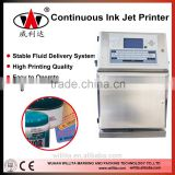 Inkjet batch coding machine with self print head cleaning