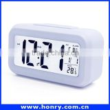 "Morning Digital Alarm Clock 4.7"" LCD Screen With Backlight Big Bold Letterings A Nice Gift Green"