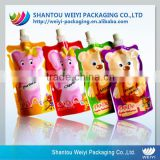 wholesale food packaging pouch/ softtextile baby food pouch/reusable food spout pouch for juice packaging