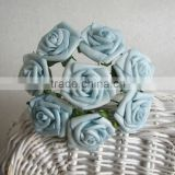 COLORFUL SMALL ARTIFICIAL FLOWRERS LIGHT BLUE ROSE FLOWERS BOUQUETS