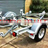 17ft high quality single axle aluminum Boat Trailer for sale                                                                         Quality Choice
