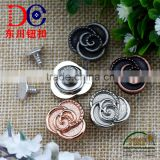 Fancy Jeans Alloy Shank Button With Rubber Core,Black Shank Buttons