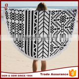 Australia wholesale 100% cotton custom printed round beach towel with tassel                                                                                         Most Popular