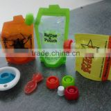 Reusable Baby Food Pouch with Spout on Top/spoons for pouches                                                                         Quality Choice