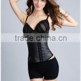 2015 Wholesale new sexy latex rubber waist training corsets with 3hooks and 4steel bone