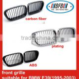 auto car front grilles carbon fiber/abs/plating chrome front grille for BMW E39