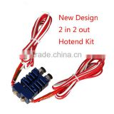 Metal 3D Printer E3D Chimera 2 In 2 Out Hotend Kit with Thermistor and Cartridge Heater 3D Printer Dual Extruder
