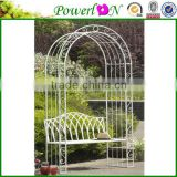Wholesale Antique Design Wrough Iron Patio Arch Bench Garden Furniture For Outdoor Patio J09M TS05 G00 X11B PL08-8674