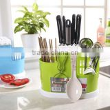 Hot sale Kitchen Tool Storage Box / Kitchenware Tableware Rack Draining Holder/Kitchen tableware spoon chopsticks storage box