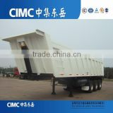 African use Front lifting U shape 3 axle 6 tipper trailer mining use 8 wheels dumper tractor 45cbm van trailer