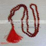 wholesale fashionable handmade jewelry necklaces fancy jasper glass seed bead tassel necklace mala shourouk necklace